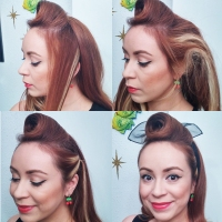 Quick & Easy Rockabilly Hair for Mamas- 5 Minute Front Roll With Scarf